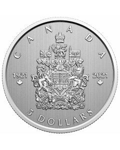 2021 1/4 oz Canada Moments To Hold:Arms Of Canada .9999 Silver Proof Coin
