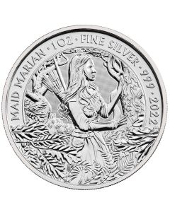 2022 1 oz Great Britain Myths and Legends - Maid Marian .999 Silver BU Coin