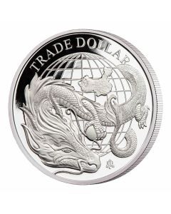 2021 1 oz St Helena Modern Chinese Trade Dollar 999 Silver Proof Coin