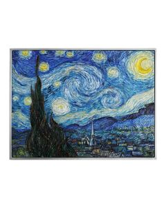 2021 2oz Chad Vincent van Gogh - The Starry Night  .999  Silver  Coloured High Relief Antique Coin