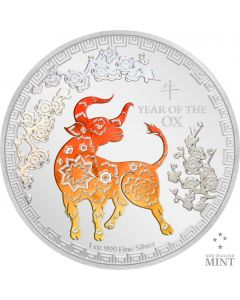 2021 1 oz Niue Lunar Year of the Ox 999 Silver Proof Coin