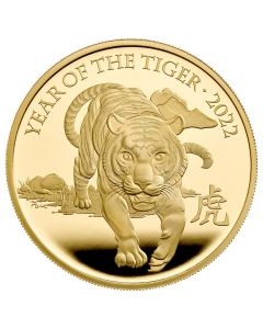 2022 5 oz Great Britain  Lunar Series Year of the Tiger .9999 Gold Proof Coin