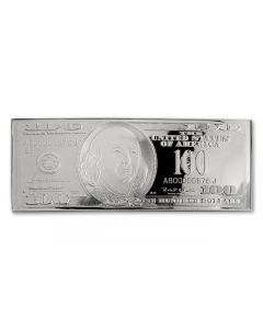 1996 $100 Franklin 1 Troy Oz .999 Silver Currency Proof