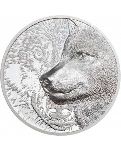 2021 1oz Mongolia Mystic Wolf .999 Silver Proof Coin