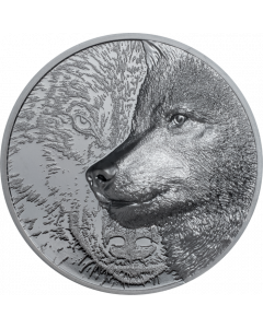 2021 2oz Mongolia Mystic Wolf 999 Silver Proof Coin