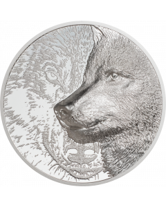 2021 3oz Mongolia Mystic Wolf .999 Silver Proof Coin