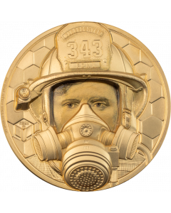 2021 1oz Cook Islands Firefighter Real Heroes .9999 Gold Proof Coin