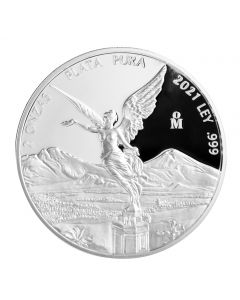 2021 2 oz Mexico Libertad .999 Silver Proof Coin (Free US Shipping 99USD+)