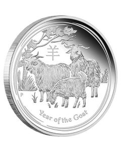 2015 1/2oz Australia Lunar Series II - Year of the Goat .999 Silver Proof Coin