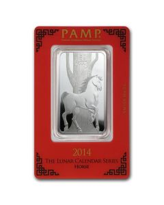1oz Pamp Suisse - Year of the Horse .999 Silver Bar