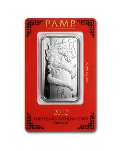 1oz Pamp Suisse - Year of the Dragon .999 Silver Bar