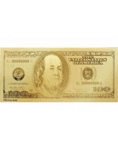 America $100 USD .999 Gold Bank Note