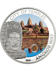 2015 25 gram Cook Island Mystical Places - City of Temples Angkor Wat .925 Silver Proof coin