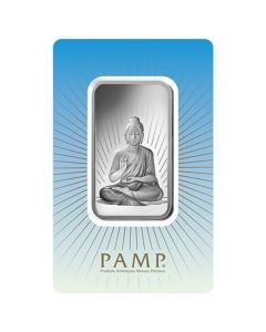 1 oz Pamp Suisse - Buddha .999 Silver Bar (in Assay)