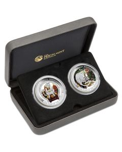 2016 1oz Monkey Wealth and Wisdom - Lunar Good Fortune Series .999 Silver Two-Coin Set