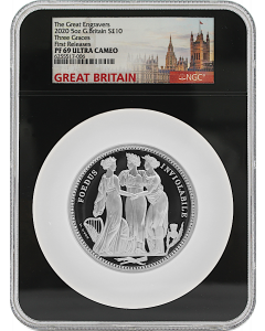 2020 5oz Great Britain The Great Engravers Collection - Three Graces Silver Proof Coin - NGC PF69