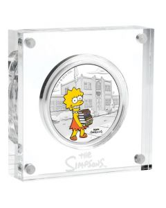2019 1 oz Tuvalu The Simpsons - Lisa 9999 Silver Proof Coin