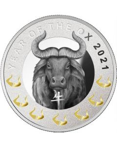 2021 17.5gram Cameroon Year of the Ox 999 Silver Proof Coin