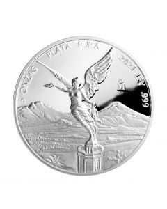 2021 5 oz Mexico Libertad .999 Silver Proof Coin (Free US Shipping 99USD+)