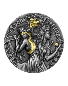 2021 2oz Niue Fortuna and Tyche .999 Silver Antique Coin