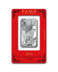 1oz Pamp Suisse - Year of the Monkey .999 Silver Bar