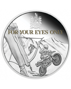 2021 1oz Tuvalu James Bond For Your Eyes Only 40th Anniversary .9999 Silver Proof Coin