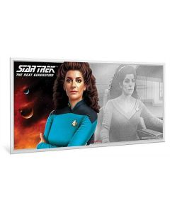 2019 5 gram Niue Star Trek: The Next Generation Characters  Deanna Troi 999 Silver Coin Note