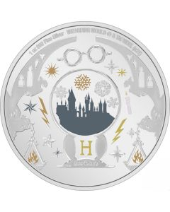 2021 1oz Niue Harry Potter Season's Greetings .999 Silver Proof Coin