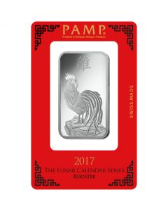 1oz Pamp Suisse - Year of the Rooster .999 Silver Bar
