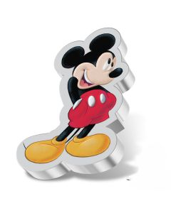 2021 1oz Niue Disney Mickey Mouse Shaped .999 Silver Proof Coin