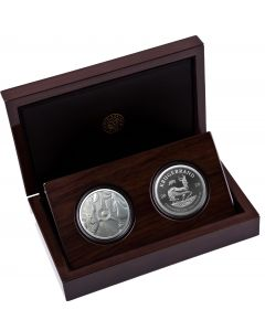 2020 1 oz South Africa Big Five Rhino & Krugerrand with Rhino Privy Mark .999 Silver Proof 2 Coin Set