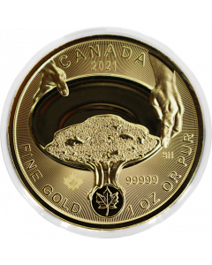 2021 1 oz Canada Klondike Gold Rush - Panning for Gold .99999 Gold Coin (In Capsule)