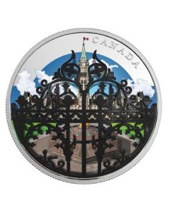 2018 62.69 gram Canada The Queen'S Gate Formal Entrance To Parliament Hill 9999 Fine Silver Coin