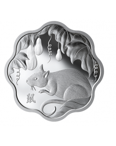 2020 26.7 gram Canada Lunar Lotus: Year Of The Rat .9999 Silver Proof Coin