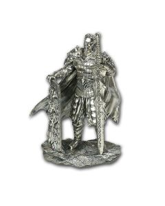 15 oz Chiwoo Cheonwang .925 Silver Antiqued Statue