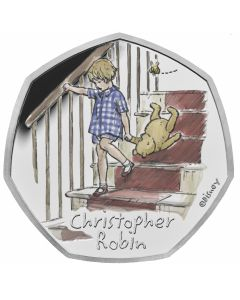 2020 8 gram Great Britain Winnie The Pooh- Christopher Robin.925 Silver Proof Coin