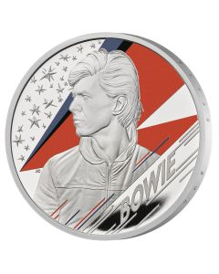 2020 1 oz Great Britain Music Legends - David Bowie .999 Silver Proof Coin
