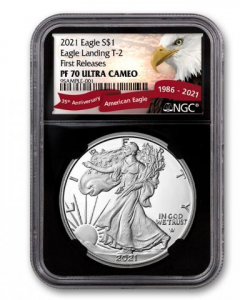 2021-W 1oz America Eagle Type 2 .999 Silver Proof Coin (NGC PF70 Early Release)