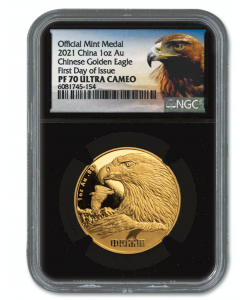 2021 1oz Chinese Golden Eagle 999 Gold Proof Medal (NGC PF70 FDI)