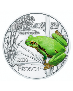 2018 16 gram Austria Colourful Creatures - The Frog Copper Nickel Coin