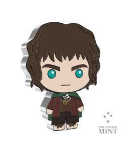 2021 1 oz Niue Chibi Coin Collection Lord Of The Rings Series - Frodo Baggins .999 Silver Proof Coin