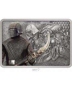 2021 1oz Niue Guards of the Empire - Knights Of Ren .999 Silver Antique Coin