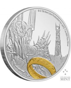 2021 1oz Niue The Lord Of The Rings Classic Series - Dark Lord Sauron .999 Silver Proof Coin