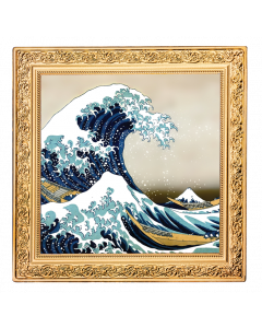 2020 1 oz Niue Treasures of World Painting - The Great Wave .999 Silver Proof Coin