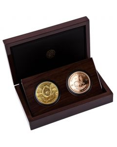 2021 1 oz South Africa Big Five - Buffalo & Krugerrand with Buffalo Privy Gold Proof 2 Coin Set
