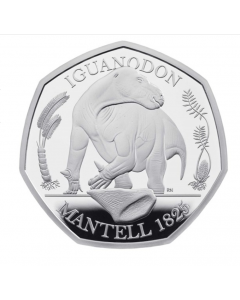 2020 8 gram Great Britain Iguanodon .925 Silver Proof Coin