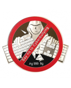 2021 8 gram Fiji Say No to Cyberbullying 999 Silver Coloured Coin