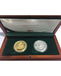 2000 Australia Year of the Dragon - Lunar Coin Series Gold & Silver Proof Coin Set