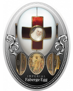 2020 16.81 gram Niue Faberge Eggs- Imperial Red Cross Easter Egg .999 Silver Proof Coin