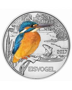 2017 16 gram Austria Colourful Creatures - The Kingfisher Copper Nickel Coin
